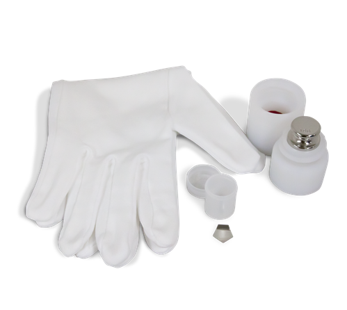 calibration weight oiml classification with case glove kit • PKM Industrial, S.A.